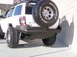 Grand Cherokee Off Road Tires Rear Bumper With Tire Carrier For Grand Cherokee Wj Jeep Grand