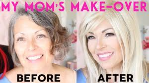 50 year old makeover my mom s make over 20 years younger youtube