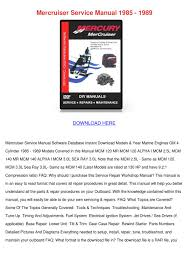 mercruiser service manual 1985 1989 by koreyhughes issuu