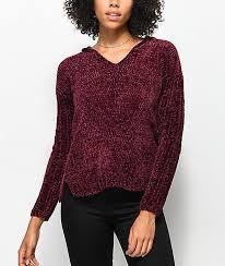 chenille sweater almost darren chenille hooded sweater zumiez