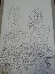 dragon ball battle gods poster gilly5 deviantart