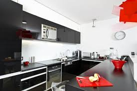 black gloss kitchen ideas and black kitchen interior design ideas and photo gallery