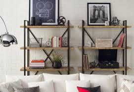 Bookcase by 17 Stories Giulio Metal Wood 67 U201d Etagere Bookcase U0026 Reviews Wayfair