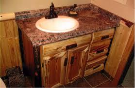 rustic log kitchen u0026 bath