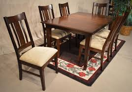 amish shaker leg table and mason side chairs jasens furniture shelby