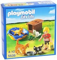 basket building amazon com playmobil cat family with basket building kit toys