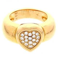 piaget ring piaget ring coeur golden yellow gold ref a148840 instant luxe