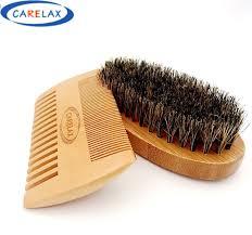 Sisir Pria sisir sikat cukur set bambu pembersih beard kumis pria cukur sikat