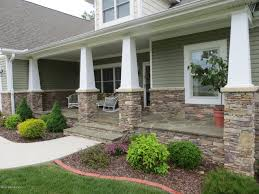 Home Exterior Design Brick And Stone Brick House With Wood Front Porch Timedlive Com