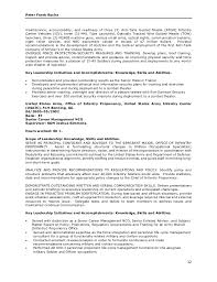 Infantry Job Description Resume by Peter Rocha Base Federal Resume Operations 19jul16