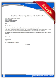 free printable cancellation of membership to credit cardbank form