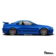 nissan skyline drawing 2 fast 2 furious vectorcars