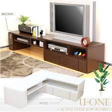 Tv Computer Desk Livingut Rakuten Global Market Telescopic Tv Stand U One Av