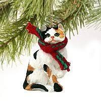 1 x calico cat tiny one ornament calico