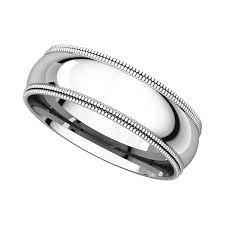 milgrain wedding band platinum 6mm milgrain wedding bands