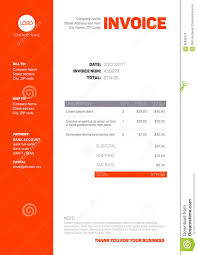 Simple Invoice Template Simple Invoice Template Stock Vector Image 92830177