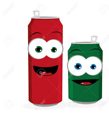 funny beer cartoon a cartoon reprenseting two funny beer or soda cans looking at