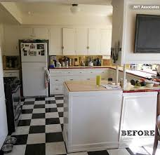 Rental Kitchen Makeover - kitchen makeover bye bye white hello bold blue hooked on