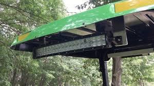 led tractor light bar john deere 4066r led light bar installation youtube