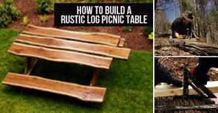 Build A Picnic Table by How To Easily Build A Rustic Log Picnic Table