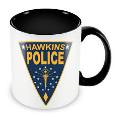 hawkins police mugs travel cup beer cup present coffee mug tea