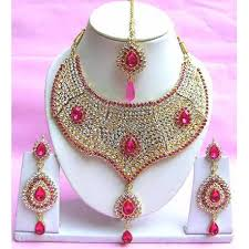 bridal necklace set images Diamond with pink sapphire bridal jewelry set jpg