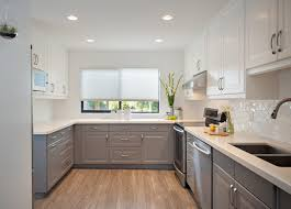 grey kitchen cabinets with white countertop 35 two tone kitchen cabinets to reinspire your favorite spot