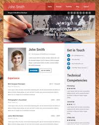 Free Resume Website Templates Top 15 Resume Website Templates In Wordpress