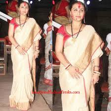 shakha pola bangles rani mukerji in anavila at durga puja celebrations