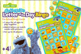 amazon com sesame street cookie monster u0027s letter of the day bingo