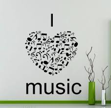 online get cheap word wall decals aliexpress com alibaba group i love music wall stickers quote word music notes treble clef studio vinyl decals dorm club