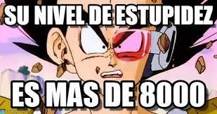 Memes De Vegeta - su nivel de estupidez vegeta meme on memegen