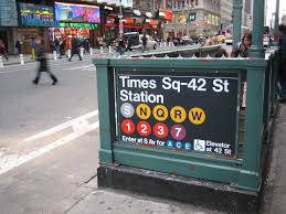 New York City Time Square Map by Nyc Guide Book