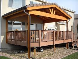 roof wonderful deck roof styles fancy outdoor wood awning ideas