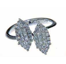diamond studded studded ring with navette