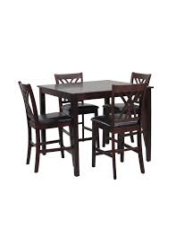 dining room tables houston acme furniture hudson 5 piece faux marble dining table set black