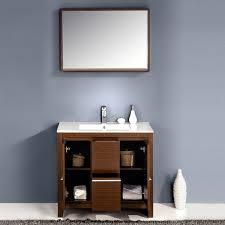 Wenge Bathroom Mirror Fresca Allier 36 Inch Wenge Brown Modern Bathroom Vanity With