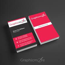 Business Card File Vertical Business Card Design Free Psd File
