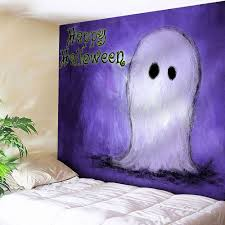wall hanging happy halloween ghost tapestry purple w inch l inch