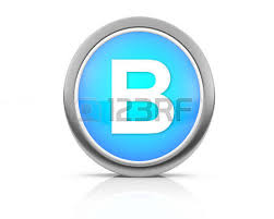3d rendering of the letter b in brushed metal on a white isolated