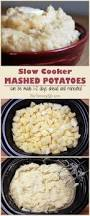 thanksgiving dinner in a crock pot slow cooker mashed potatoes