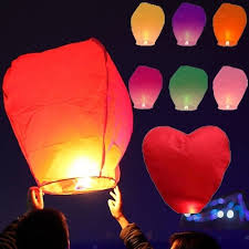 candle balloon qoo10 5pcs sky lanterns wishing l candle