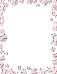 printable baseballs border use the border in microsoft word or