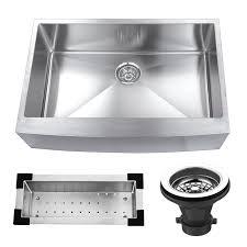 KBC  X  Stainless Steel Single Bowl Farmhouse Kitchen - Stainless steel single bowl kitchen sink