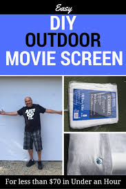 easy diy outdoor movie screen in under and hour for less than 70