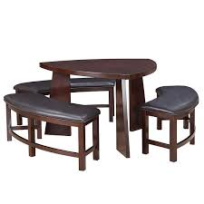 Triangle Dining Table With Bench 20 Softly Shaped Curves Of Triangular Dining Tables Home Design