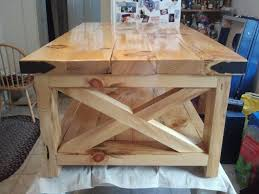 ana white natural look of rustic x coffee table diy projects