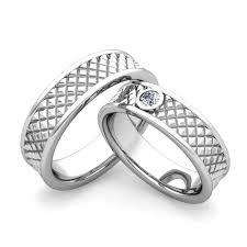 Matching Wedding Rings by Matching Wedding Bands Diamond Fancy Wedding Ring In 14k Gold