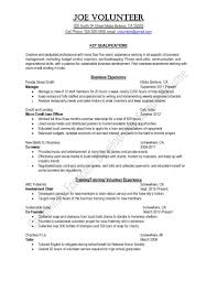 Example Of Resume For College Students With No Experience by Resume Samples Uva Career Center