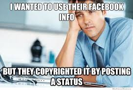 Facebook Post Meme - facebook copyright status meme weknowmemes